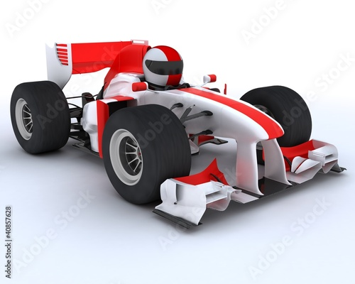 Foto op Canvas Cars man with racing car