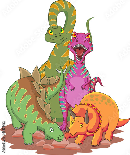 Acrylic Prints Dinosaurs Dinosaur cartoon