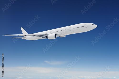 Türaufkleber Flugzeug Clear airpcraft in blue sky