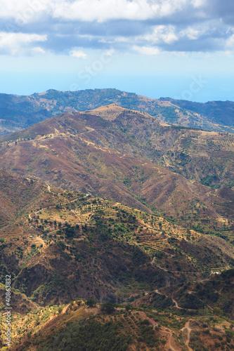 Obraz na plátně  Calabrian hills near Bova