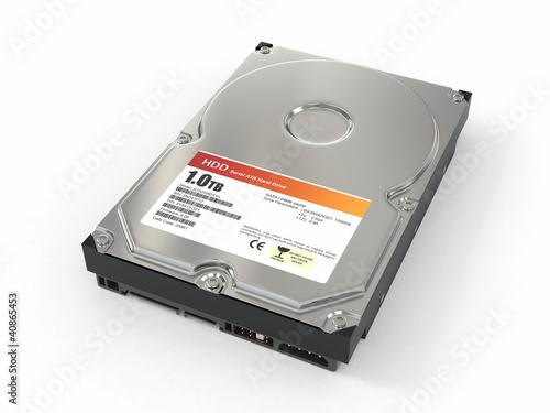 Fotografia  HDD. ATA Hard disk drive. 3d
