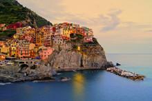 Manarola, Italy On The Cinque ...