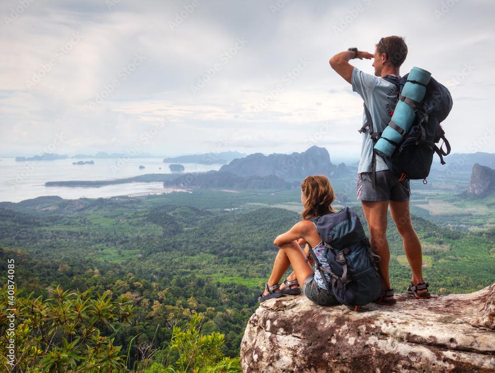 Fototapety, obrazy: Backpackers