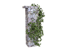 Stone Wall Decorated With Ivy ...