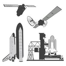 Vector Illustration .Space Ele...