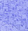 Blaue Glasfassade