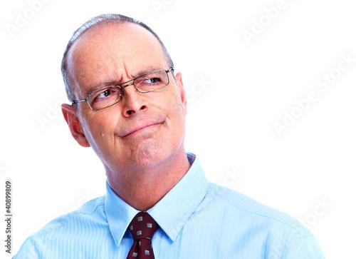 Fotografía  Skeptical businessman.