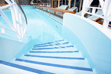 Pooll On The Deck Of A Cruise Ship