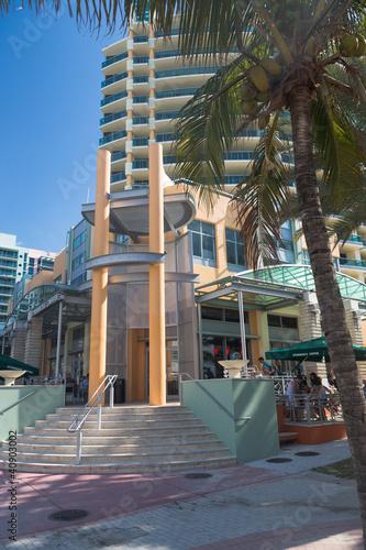 In de dag Immeuble de Miami Beach en Floride