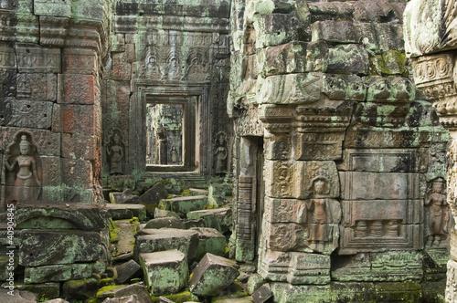 Foto op Aluminium Rudnes Devata, Preah Khan Temple, Angkor Wat, Cambodia
