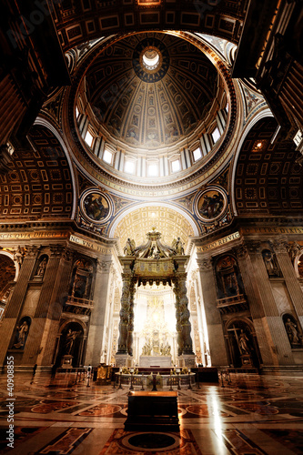 Canvas Print Inside the St. Peter Basilica, Vatican