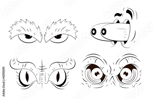 Cartoon Eyes Drawing Buy This Stock Vector And Explore Similar