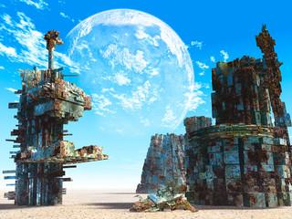 Fototapeta Fantasy 3d Fantasy landscape