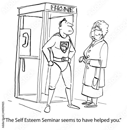 Spoed Fotobehang Comics Self-Esteem Seminar was Helpful