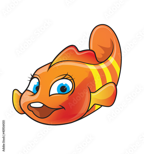 Fotografie, Obraz  Cartoon of Clown-fish