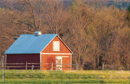 Fotografie, Obraz  Red Barn in Charlton