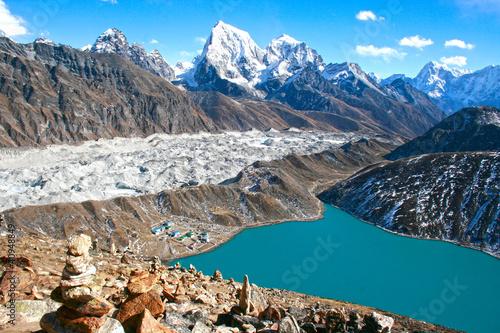 Foto op Canvas Nepal GLACIAR DEL EVEREST, NEPAL