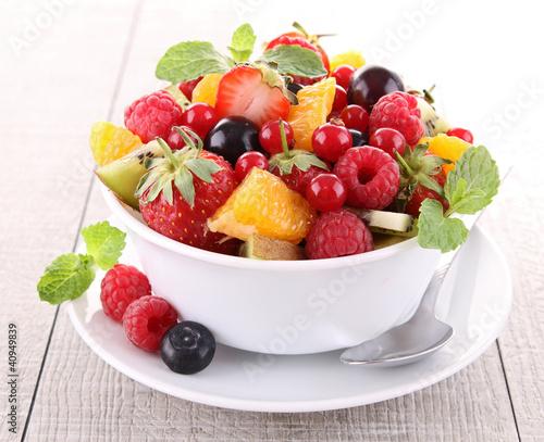 Foto op Aluminium Vruchten fresh fruits salad