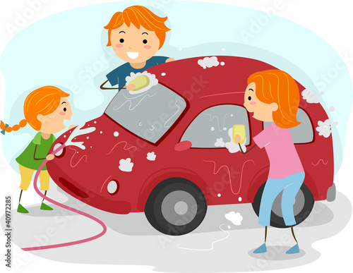 Recess Fitting Cars Family Car Wash