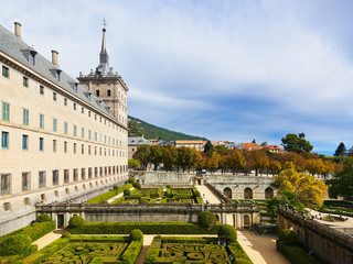 Castle Escorial near Madrid Spain
