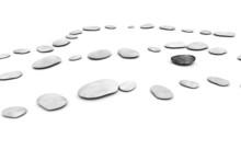 Pebbles On White