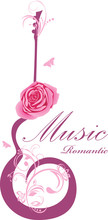 Abstract Guitar With Rose. Rom...
