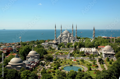 Printed kitchen splashbacks Turkey Blue Mosque Istanbul-Sultanahmet