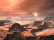 Alien Desert Sunrise / Sunset