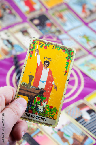 The Magician, Tarot card, Major Arcana - Buy this stock photo and
