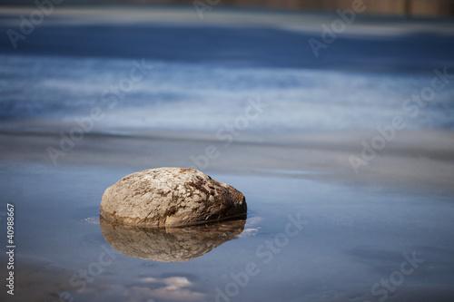 Foto-Rollo - Stein im Wasser