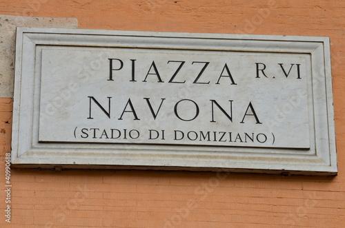 Valokuva  Piazza Navona, Roma