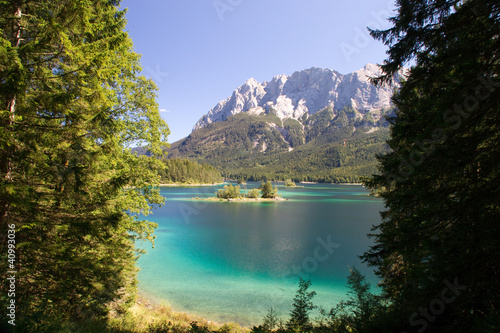 Dekoracja na wymiar eibsee-bergsee-dream-idyll-blue-grainau-azur
