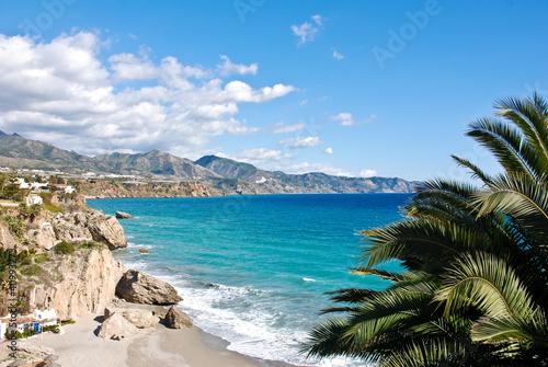 Photo  Nerja Beach and City - Spain