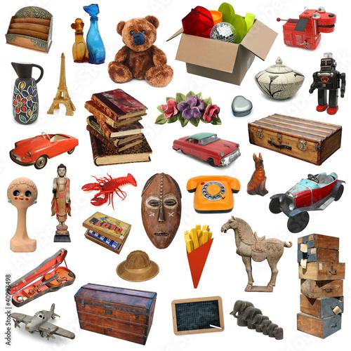 Foto  Flohmarkt (Objekte ausgeschnitten)
