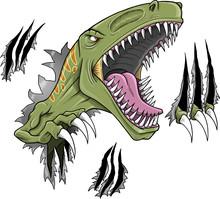 Velociraptor Dinosaur Vector I...