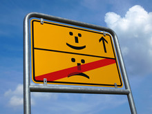 Schild Smiley