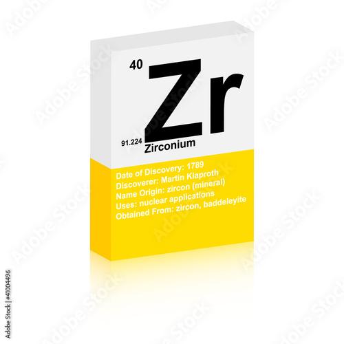 Fotografia, Obraz  zirconium symbol