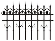 Vintage Iron Fence