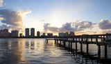 Old wooden pier at West Palm Beach, Florida, USA