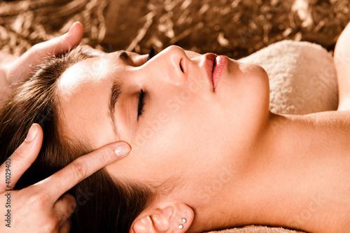 face massage Canvas Print