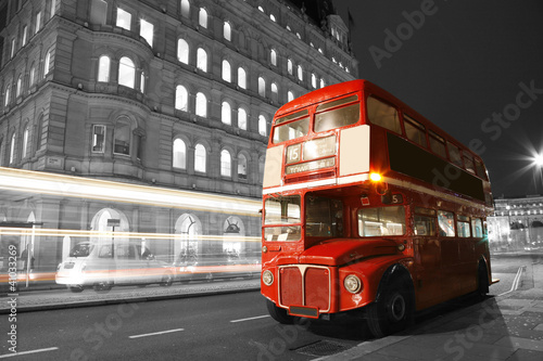 Fotobehang Londen rode bus London Route Master Bus
