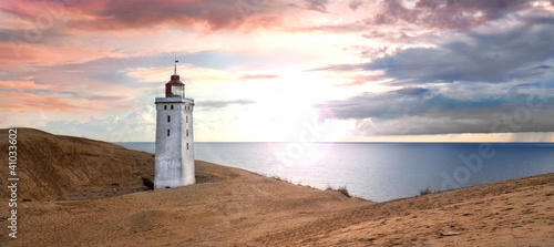 Foto-Leinwand - Leuchtturm