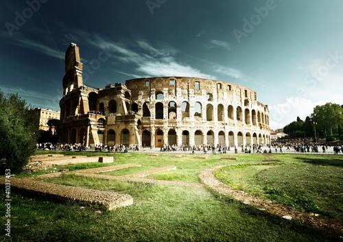 Fotografering  Colosseum in Rome, Italy