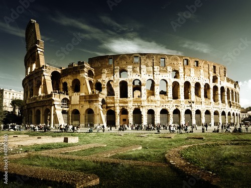 Spoed Foto op Canvas Rome Colosseum in Rome, Italy