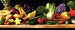 canvas print picture - Obst Gemüse Früchte Panorama