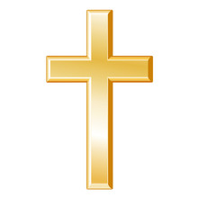 Christianity Symbol, Gold Cros...
