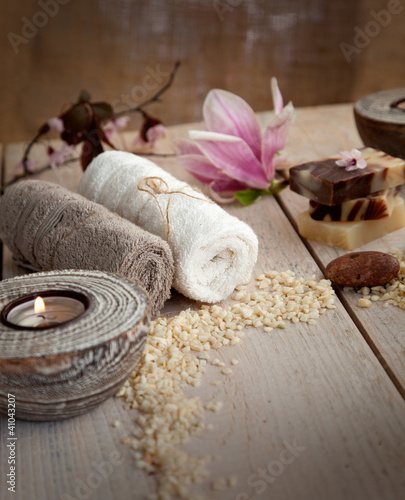 Plissee mit Motiv - Natural spa setting