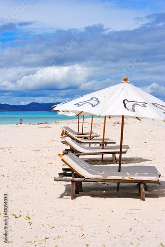Fotobehang Leeuw Relax on the beach - Africa - Madagascar - Nosy Iranja