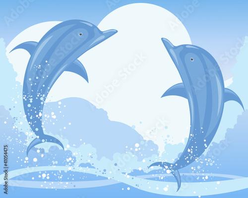 Poster Dolfijnen dolphin jump