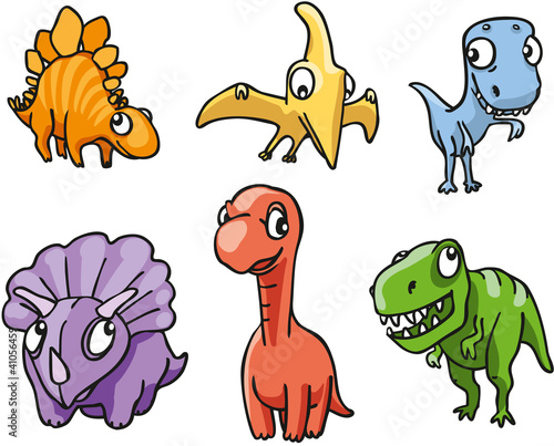 6 bunte Dinosaurierfiguren
